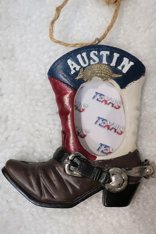 Austin Boot Picture Ornament