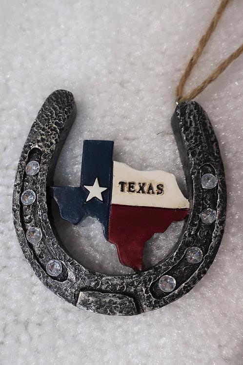 Texas Horseshoe Ornament