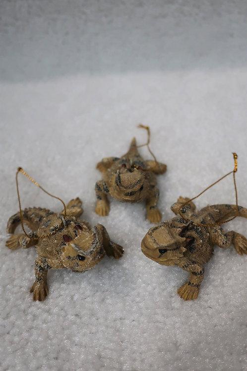 Horned Toad Ornament set