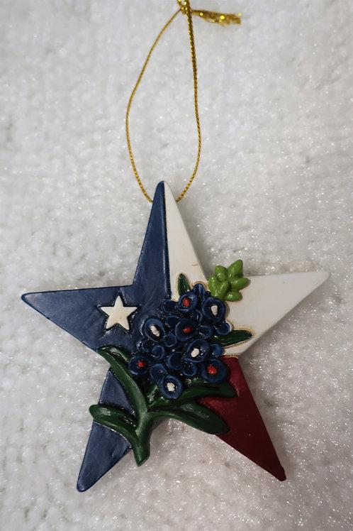 Star Bluebonnet Ornament