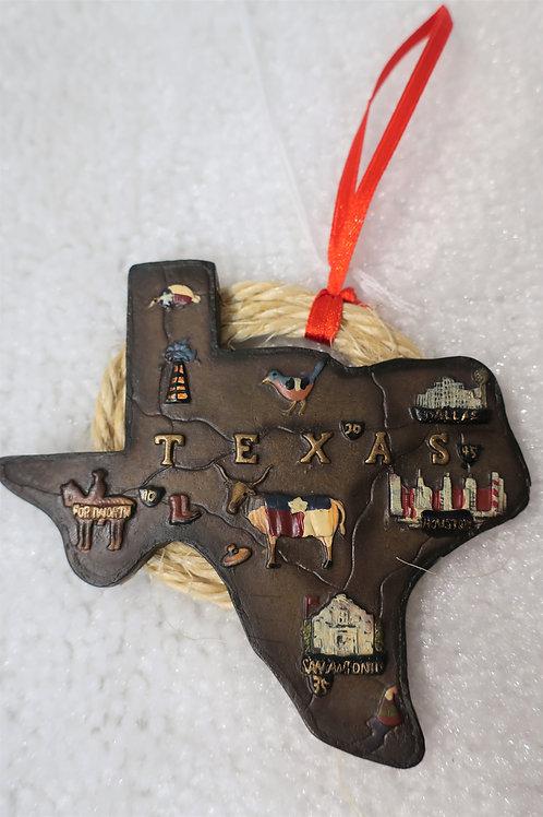 Texas Map Ornament