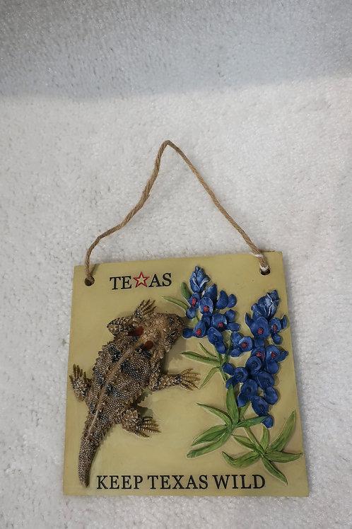 Horny Toad Wall Plague