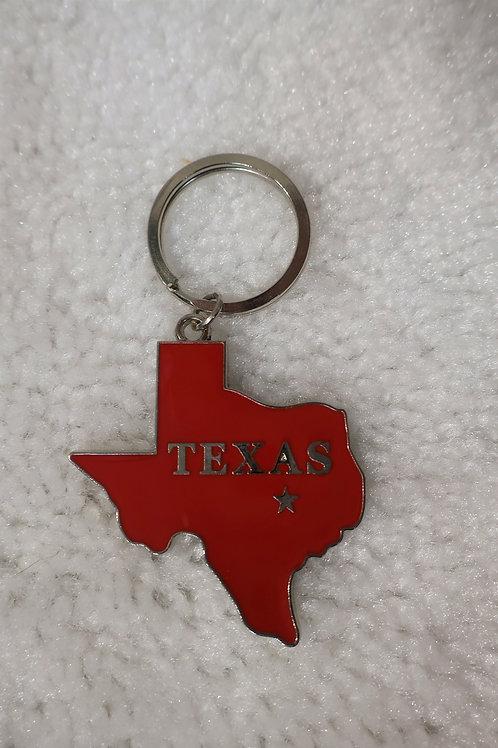 Texas Map Key Chain