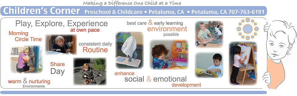 Preschool kids playing, learning, and experiencing life.