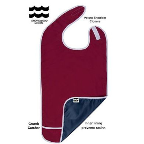 ADULT BIB / CLOTHING PROTECTOR-Red
