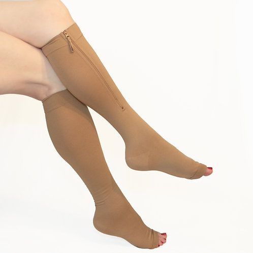 20-3 mmHg Compression Stockings with Zipper