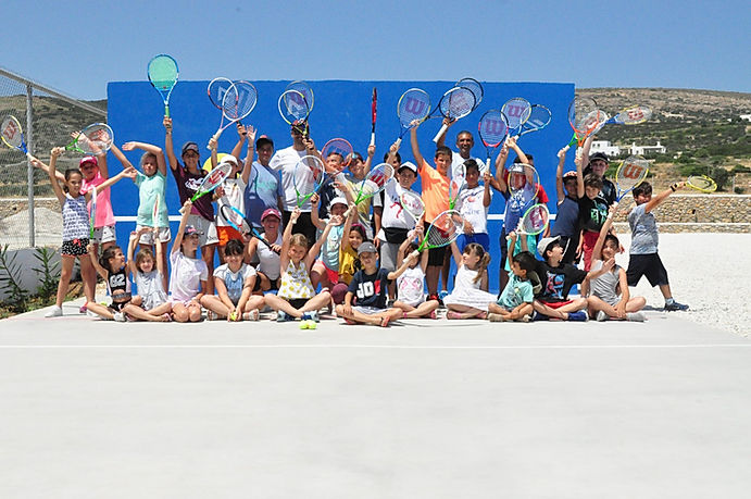 paros tennis club- kids academies-aegean