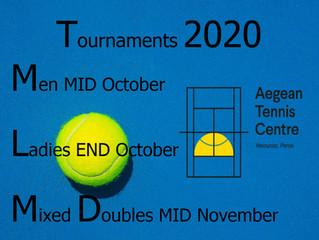 Tournaments October-November 2020