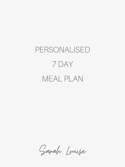 7 Day Personalised Nutrition Plan