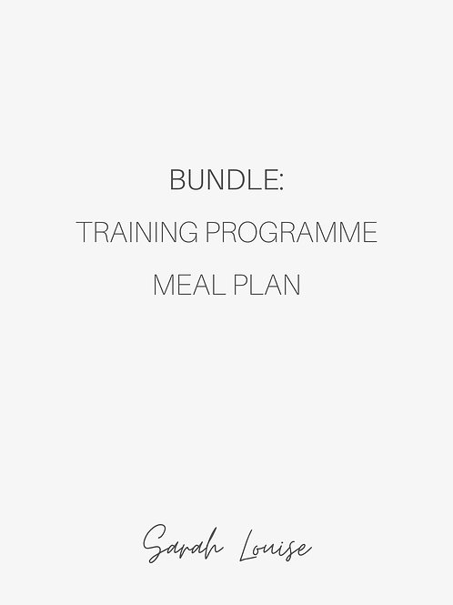 Bundle: Training Programme & Nutrition Plan