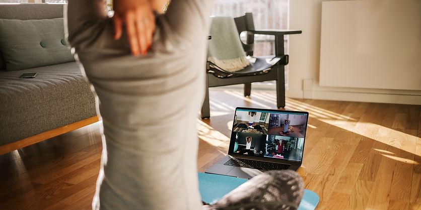 Online virtuel firmatræning personlig træner
