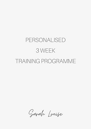 3 week personalised training programme.p