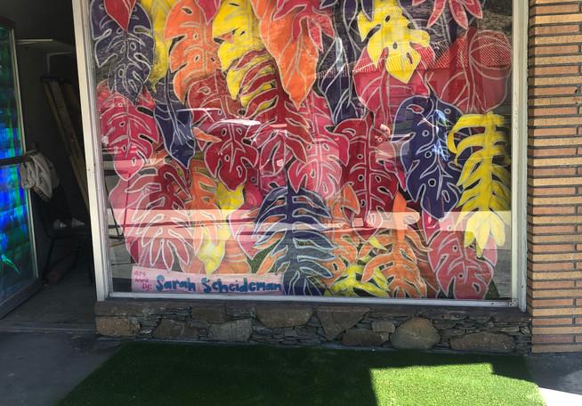 Felt Leaf Store front display design by