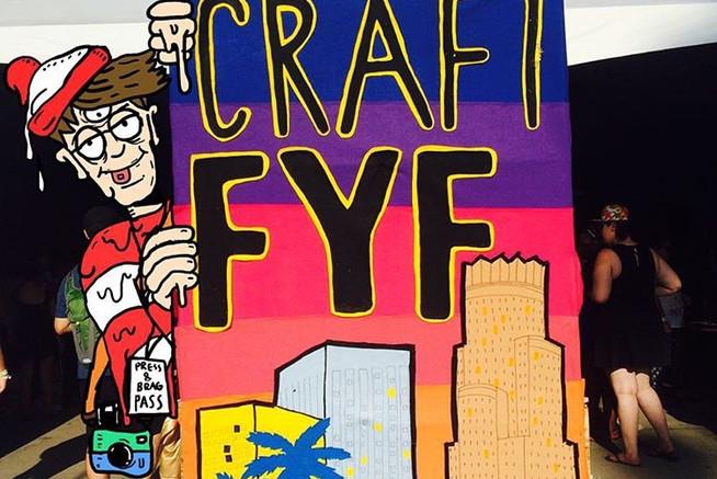 Felt Banner for craft tent at FYF Festiv