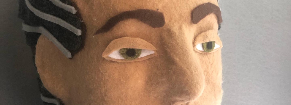 sarah scheideman felt art sculpture pupp