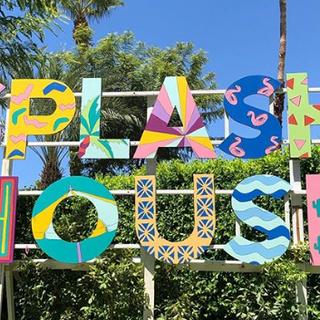 Splash House signage design by Sarah Sch