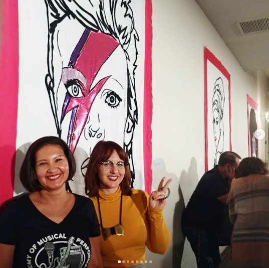 Gallery hung BOWIE piece at AMP Indio
