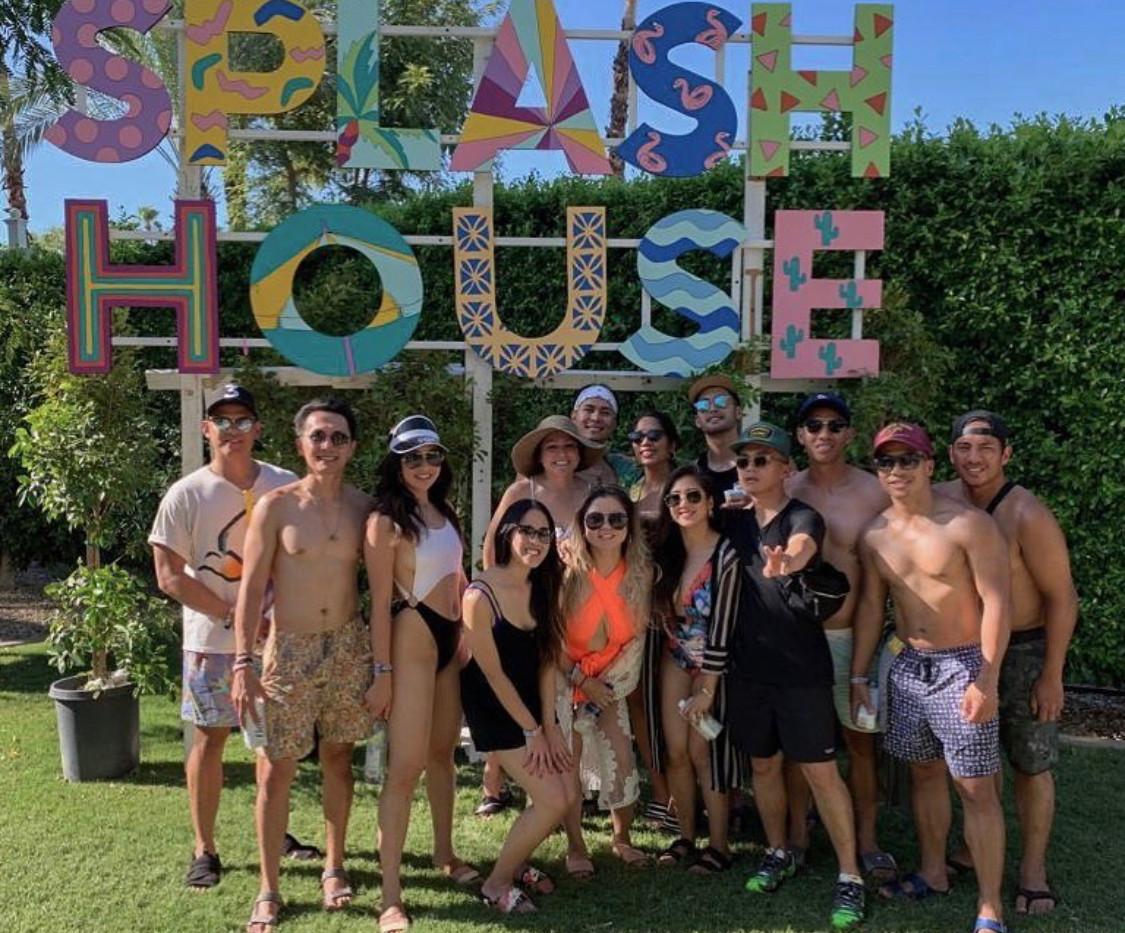 Splash House letters in Palm Springs des