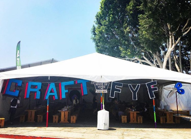 Felt signage for craft tent at FYF Festi