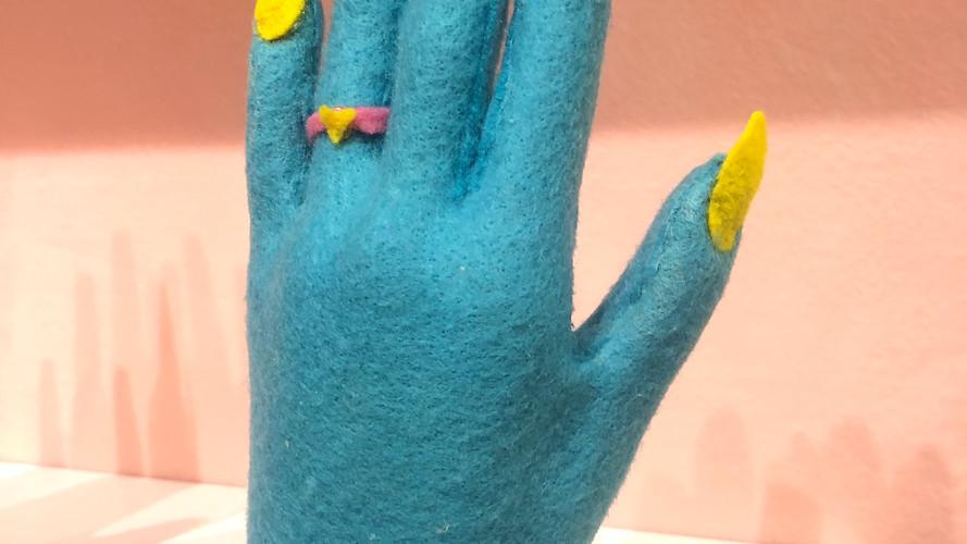 sarah Scheideman felt soft sculpture - h