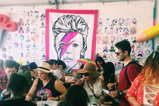 Felt banners for Vans at FYF Fest  by Sa