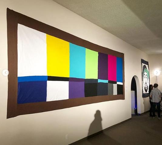 TV Testing felt banner by Sarah Scheidem