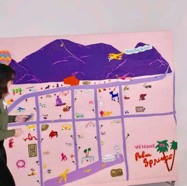 """""""A Felt Eye View"""" commissioned piece for Palm Springs Public Arts Commission"""