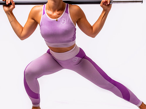 Purple/ Pink Leggings and Top