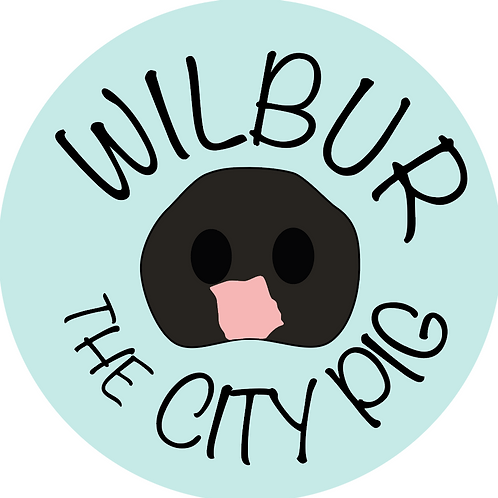 Wilbur the City Pig Sticker
