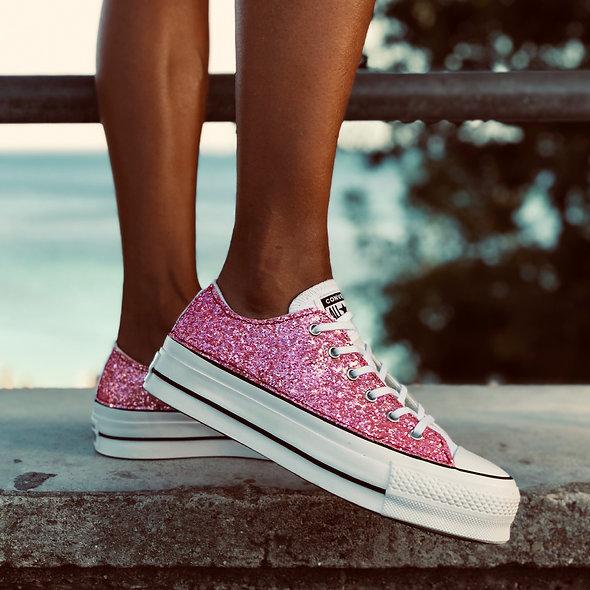 Platform White Pink Shine