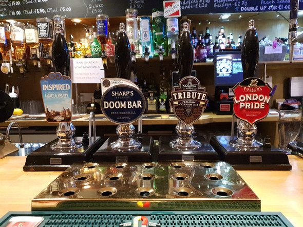 Our selection of real ales