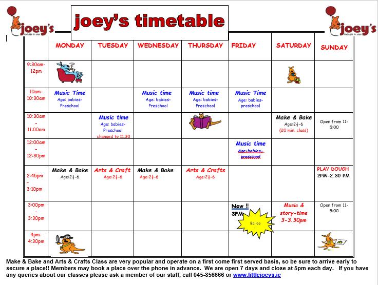 Joeys timetable sep 2020.PNG