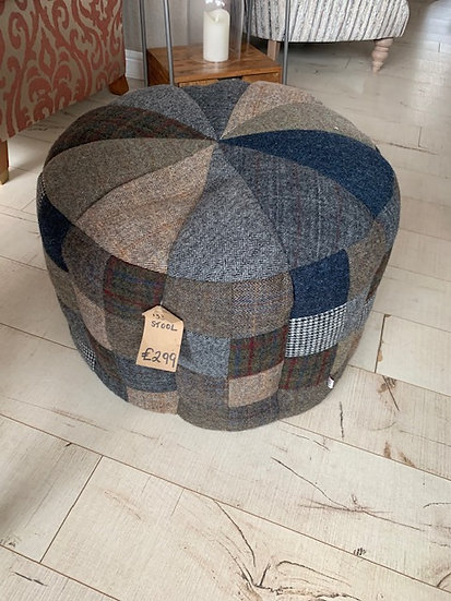 Harris Tweed Patchwork Pouffe