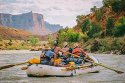 Rafting through Moab