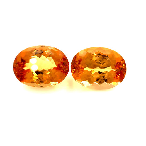 Imperial Topaz Pair 20.49cts
