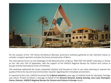 """Article de l'UNESCO sur la Conférence """"Rises from the Ashes"""""""