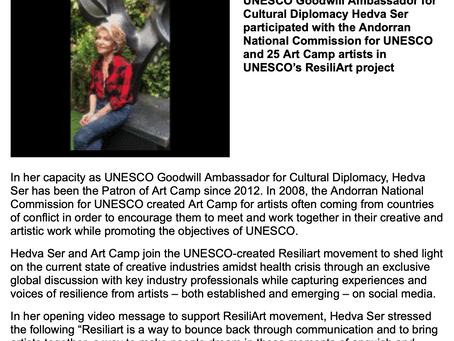Hedva Ser mobilise des artistes d'Art Camp pour soutenir le mouvement ResiliArt de l'UNESCO / He
