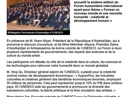 Forum humanitaire de Bakou / Humanitarian Forum, Baku