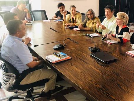 Réunion avec le Maire de Carthagène / Meeting with the Mayor of Carthagena