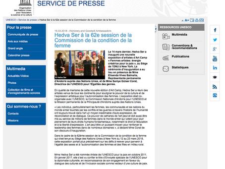 Hedva Ser à la 62e session de la Commission de la condition de la femme