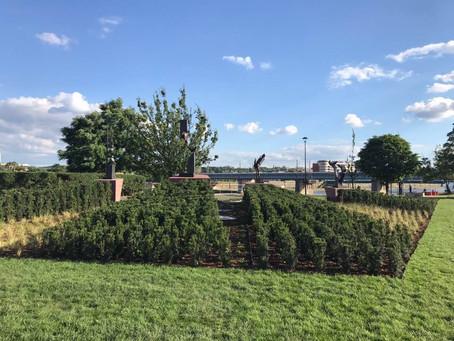 Inauguration du Jardin de l'Espoir le 3 juillet 2017  à Cracovie, Pologne