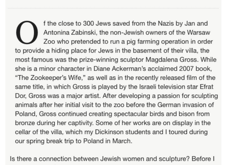 """""""Sculpting a Jewish Story"""" by Ted Merwin"""