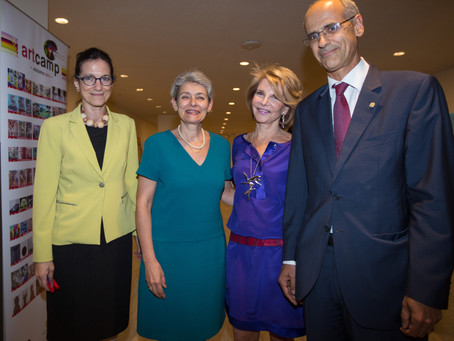 UNESCO's Art Camp exhibition at the United Nations headquarters, New York, 21st of september 201