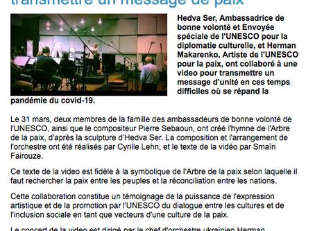 Article de l'UNESCO sur l'Hymne de la Paix