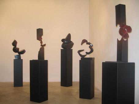 Exposition de sculptures - Galerie Ermanno Tedeschi - Milan - Italie.