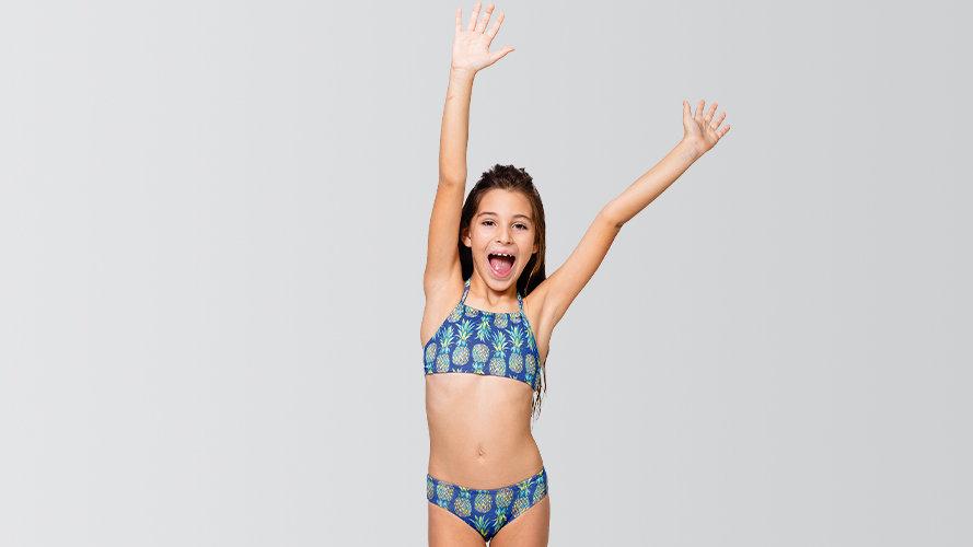 Biquíni Infantil Top Calça - Com Proteção UV