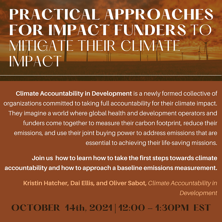 Practical Approaches for Impact Funders to Mitigate Their Climate Impact