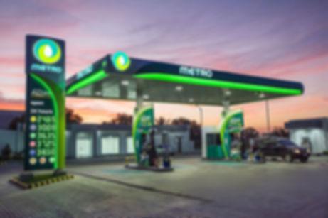 שילוט מחיר אלקטרוני בתחנת דלק