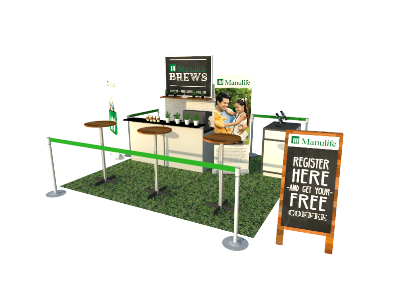 Manulife Brews Booth Design
