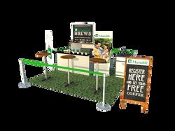 Manulife Brews Booth Design